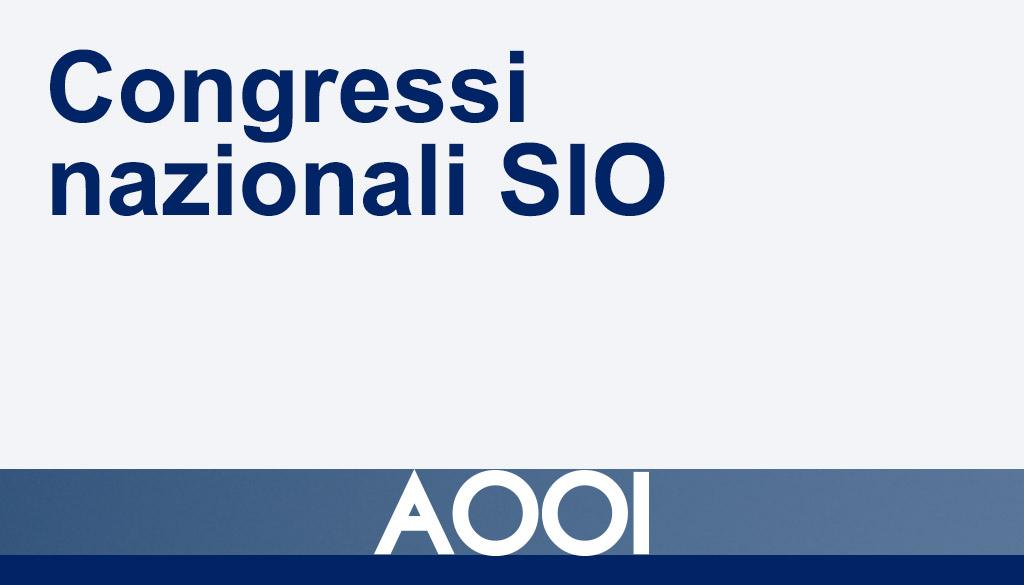 Congressi nazionali SIO